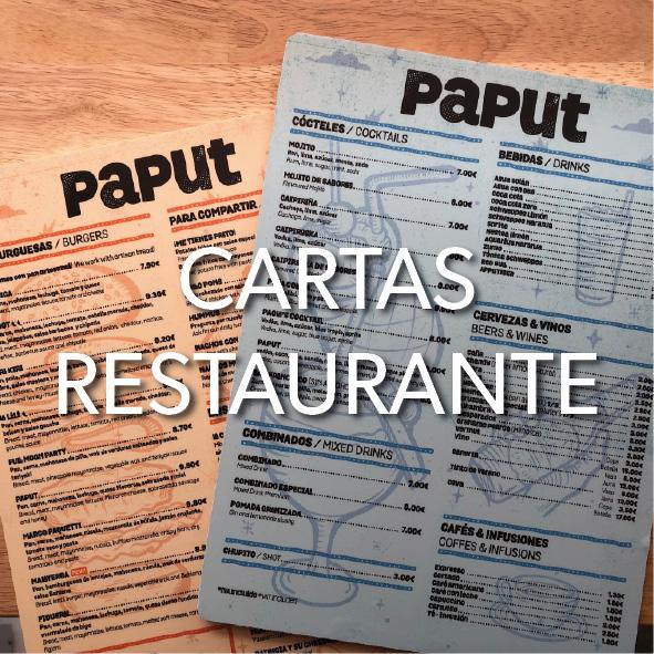 Cartas Restaurante en Menorca